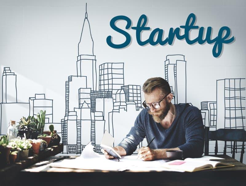Nouveau concept de démarrage de lancement de stratégie de vision d'affaires image stock