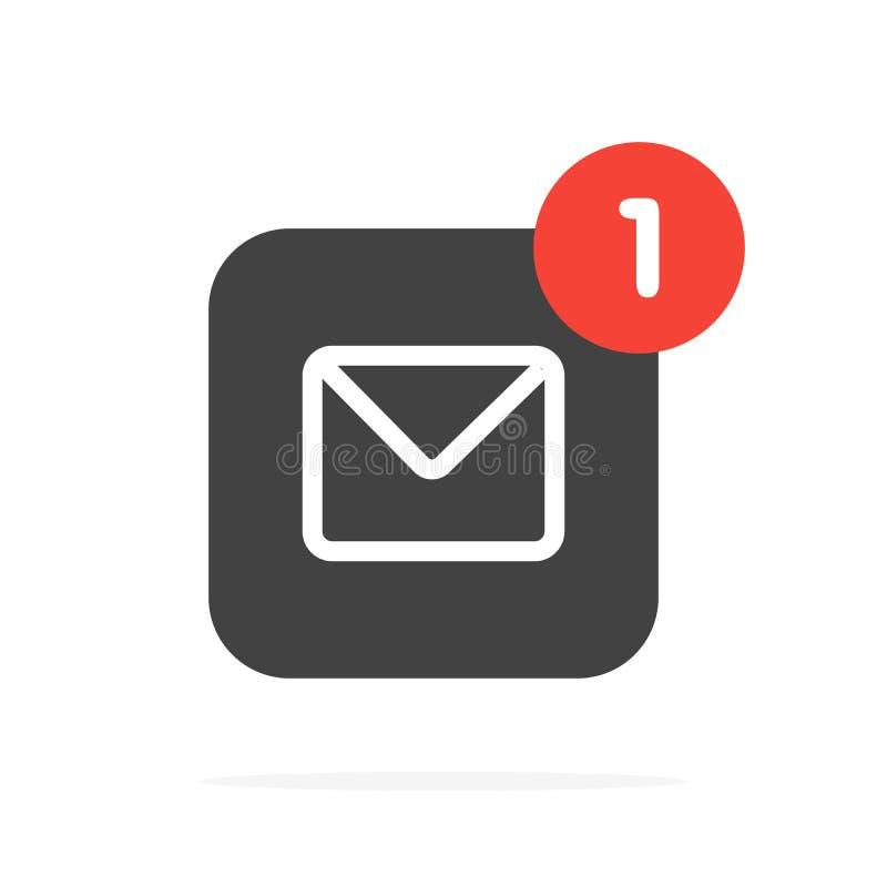 Nouveau concept de message Ic?ne d'enveloppe d'email Illustration de vecteur photographie stock