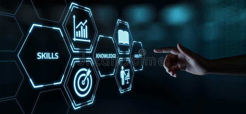 Nouveau concept de technologie d'Internet d'affaires de formation de Webinar de la connaissance de qualifications photos stock