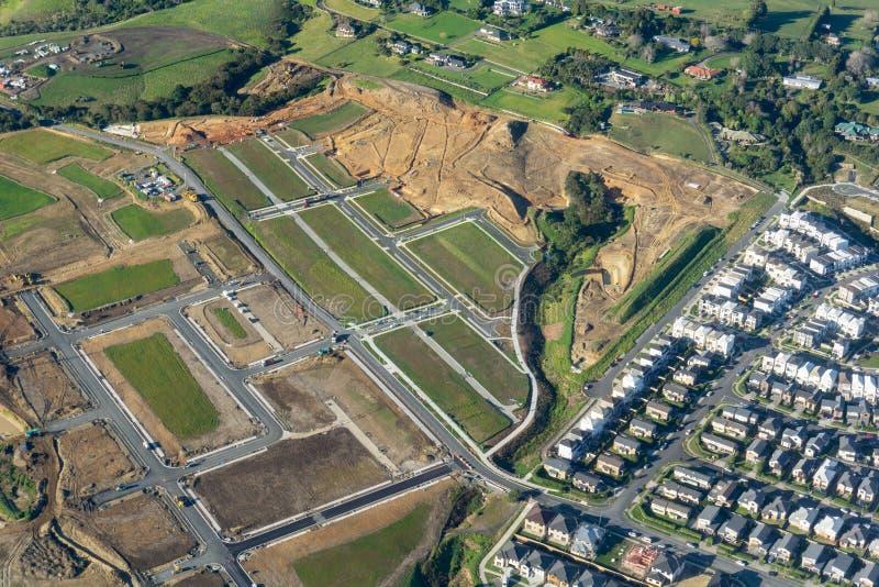 Nouveau développement résidentiel dans la campagne au sud d'Auckland image libre de droits