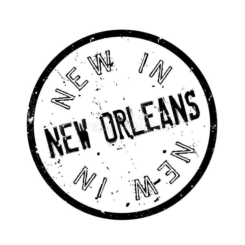 Nouveau dans le tampon en caoutchouc de la Nouvelle-Orléans illustration de vecteur