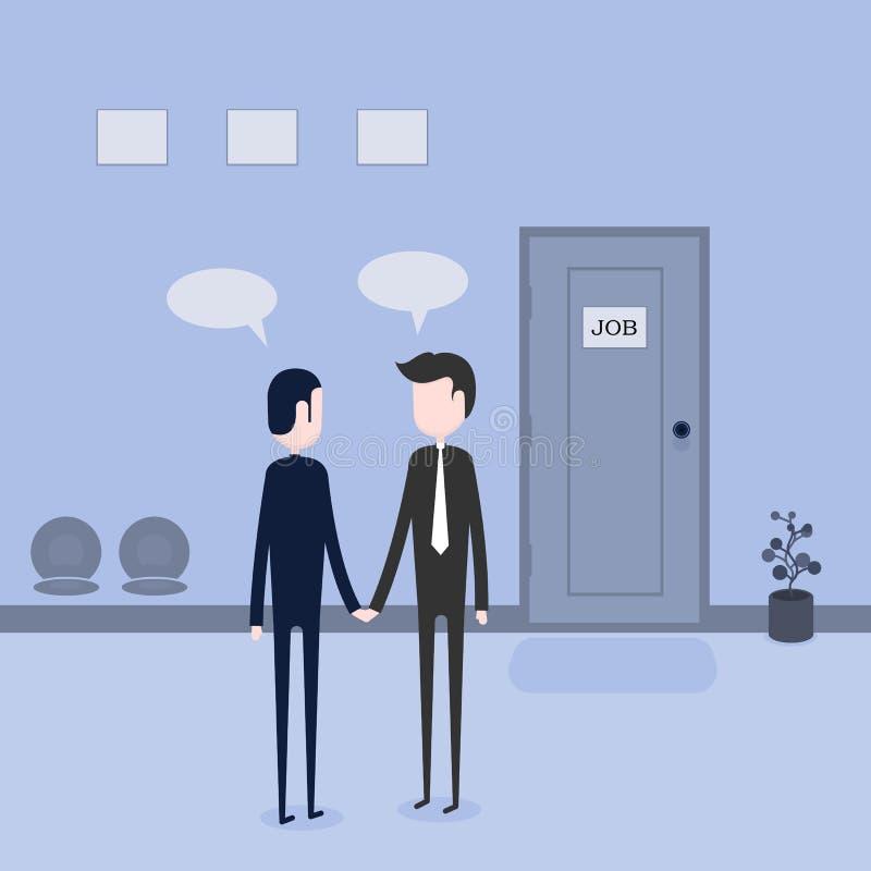 Nouveau demandeur des employés Entrevue d'emploi Dirigeant de ressources humaines interne illustration de vecteur