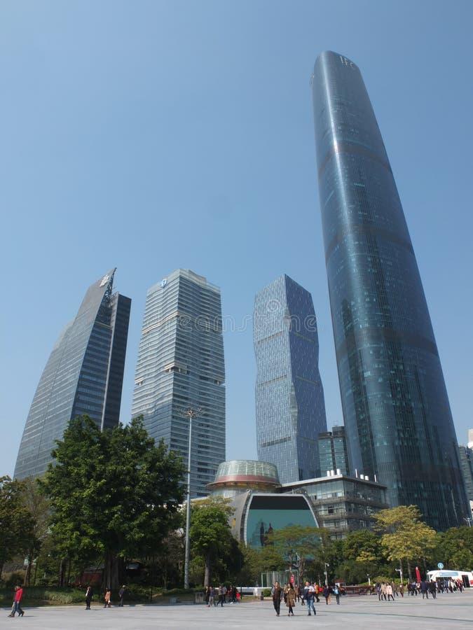 Nouveau district des affaires central de Guangzhou photo libre de droits