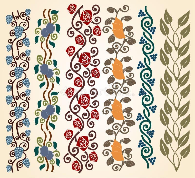 nouveau för konstkantram royaltyfri illustrationer