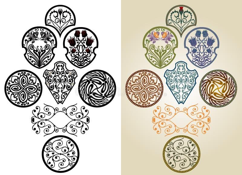 nouveau för konstsamling royaltyfri illustrationer