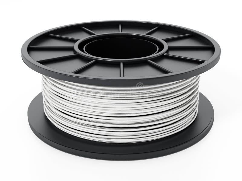 Nouveau filament 3D générique d'isolement sur le fond blanc illustration 3D illustration de vecteur