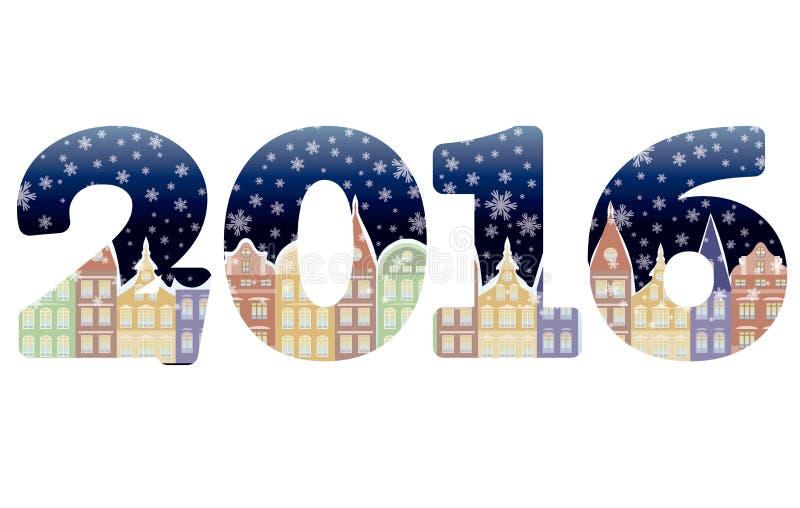 Nouveau fond heureux de 2016 ans, vecteur illustration libre de droits