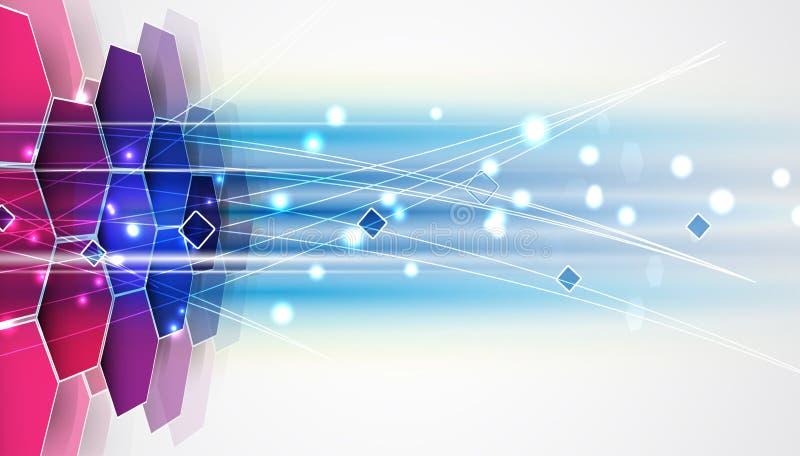 Nouveau futur fond d'abrégé sur concept de technologie illustration libre de droits