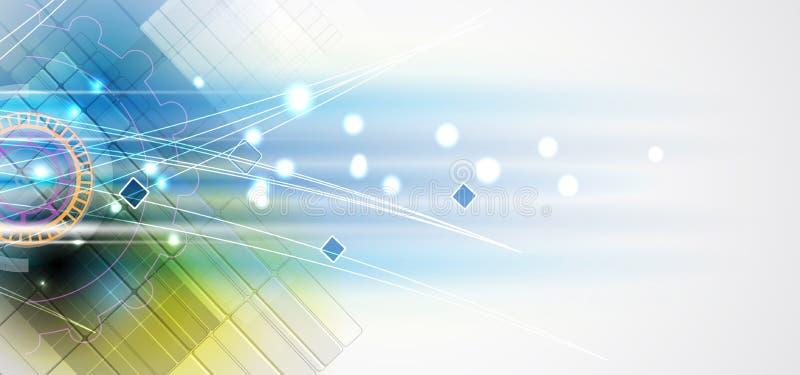 Nouveau futur fond d'abrégé sur concept de technologie illustration stock