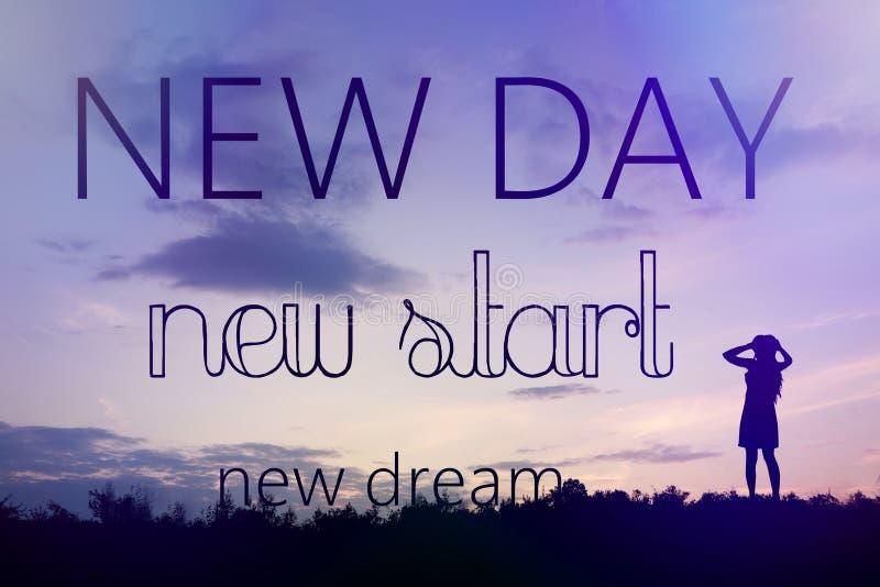Nouveau jour - nouveau début - nouveau rêve photo libre de droits