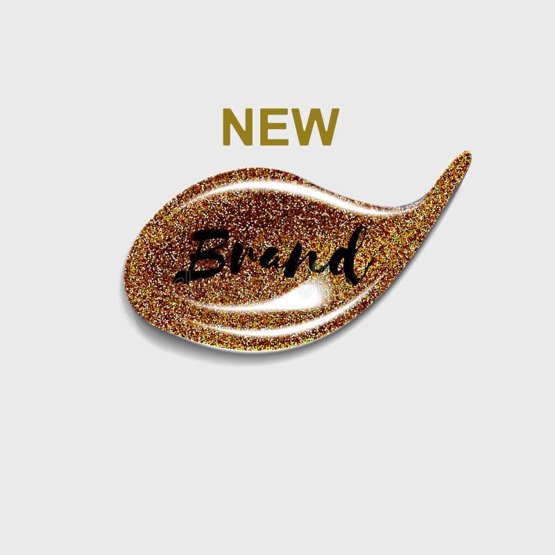 Nouveau label de marque pour des cartes cadeaux, beauté de journaux intimes Beauté et fond de cosmétiques Pour être employé pour  illustration stock
