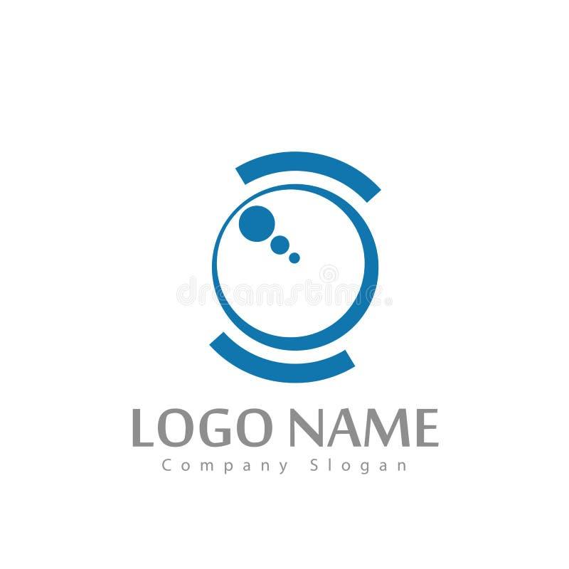 Nouveau logo à la mode de cercle pour votre société illustration de vecteur