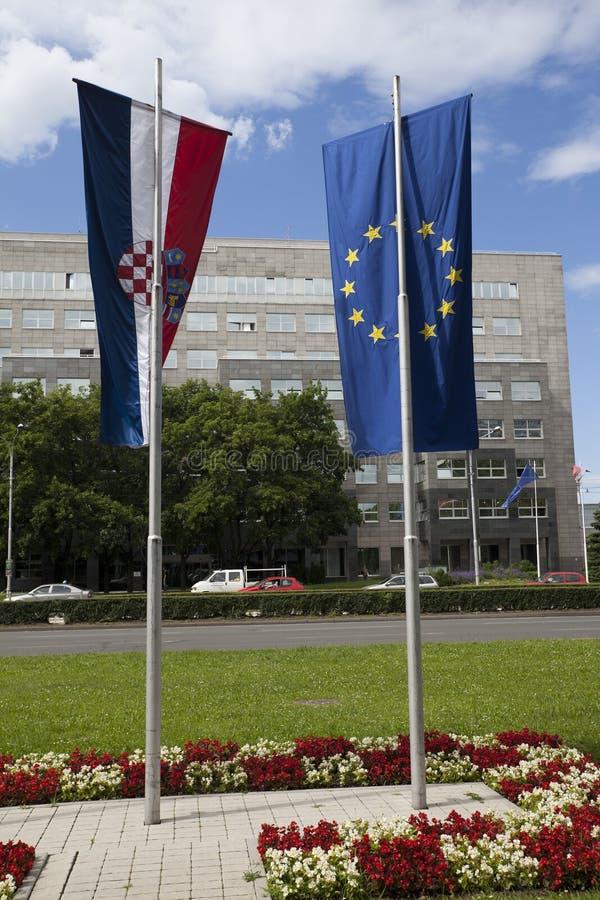 Nouveau membre de la Croatie d'UE photo libre de droits