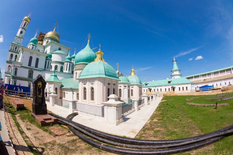 Nouveau monastère de Jérusalem de résurrection dans Istra Russie photo libre de droits