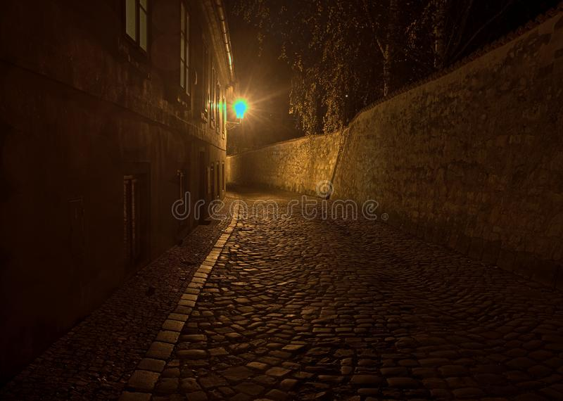 Nouveau monde au château de Prague images stock