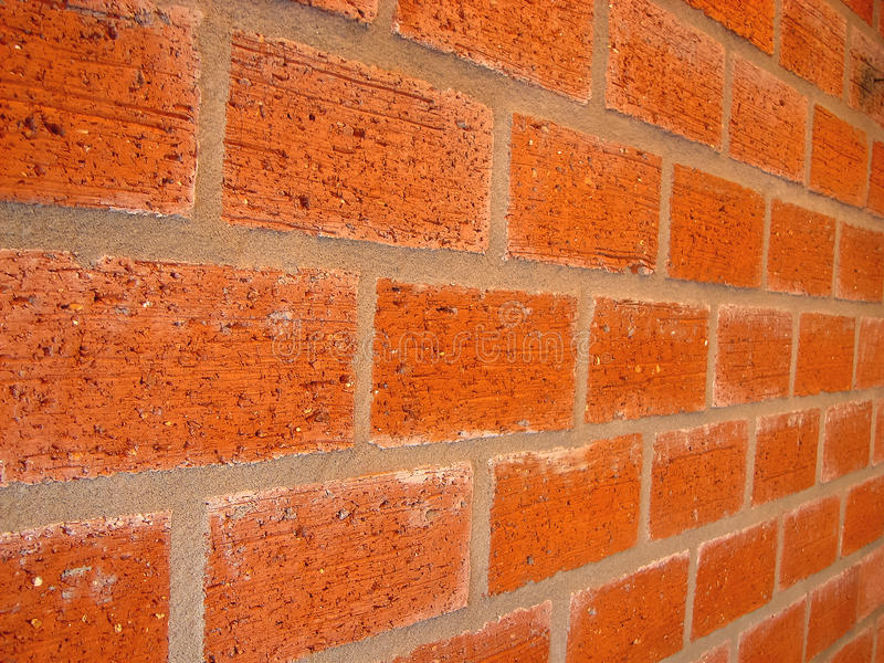 Nouveau mur de briques photographie stock libre de droits