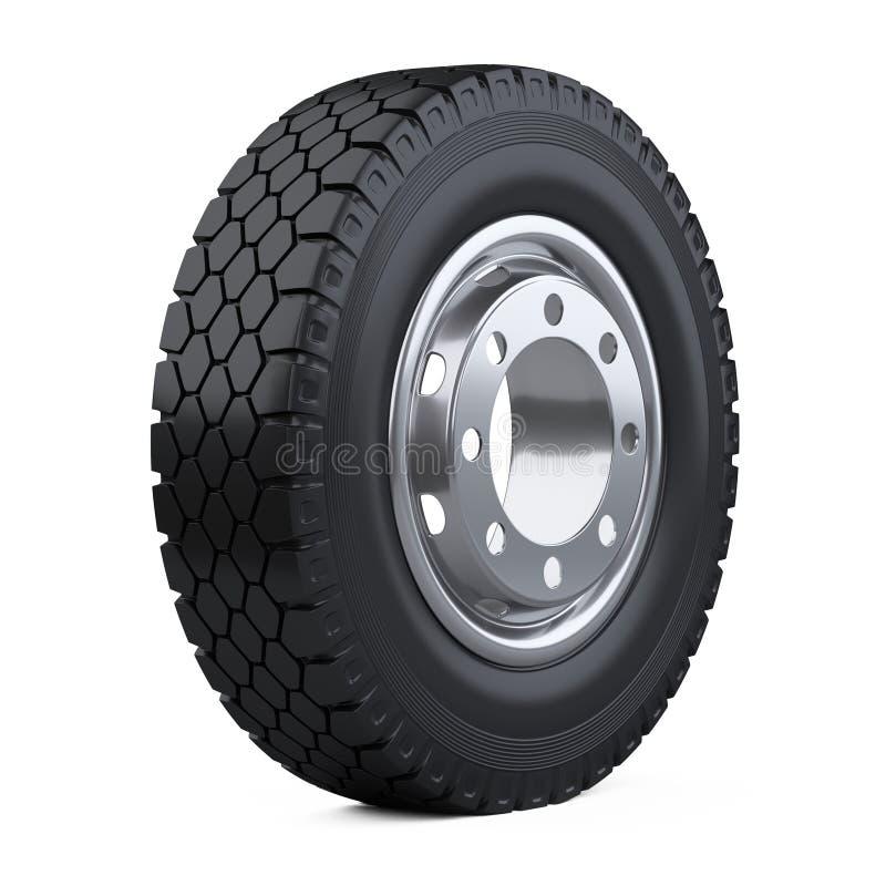 nouveau pneu de camion de v hicule grande roue de voiture avec le disque illustration stock. Black Bedroom Furniture Sets. Home Design Ideas