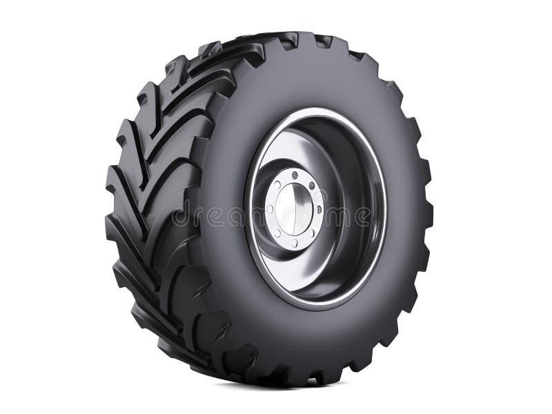 Nouveau pneu de camion de véhicule Grande roue de voiture avec le disque en métal pour lourd illustration stock