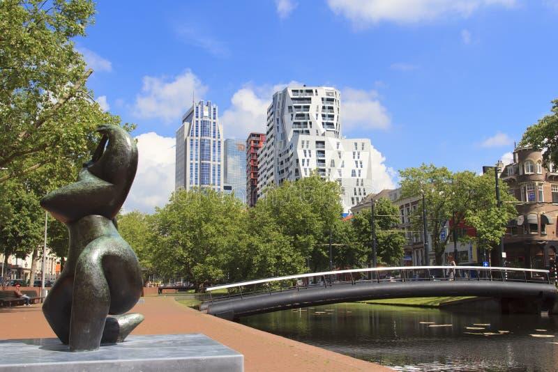 Nouveau Rotterdam photo libre de droits