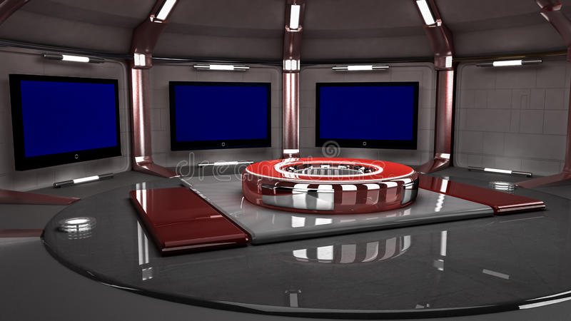 Nouveau rouge 2014 d'ensemble virtuel au loin illustration de vecteur