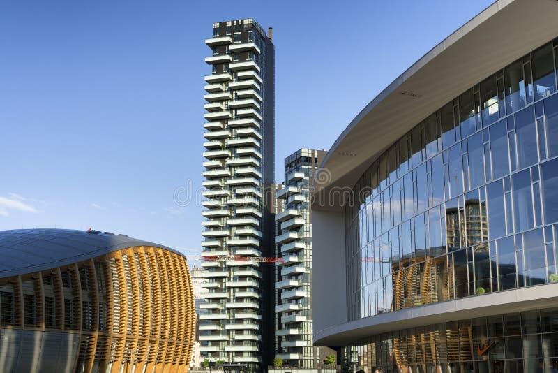 Nouveau secteur de Porta Nuova à Milan photo stock