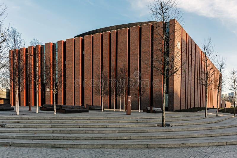 Nouveau siège d'orchestre symphonique polonais de radio nationale photos stock