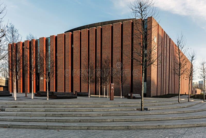 Nouveau siège d'orchestre symphonique polonais de radio nationale image libre de droits