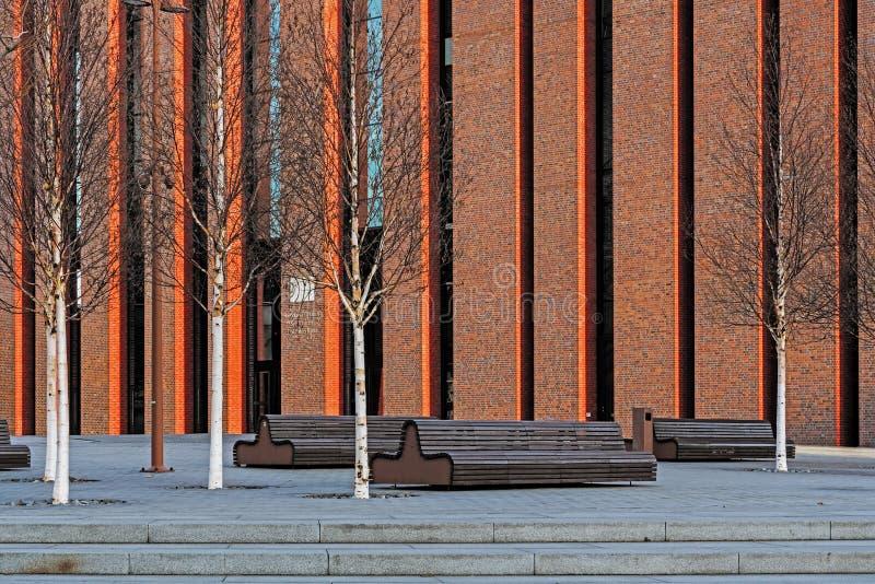 Nouveau siège d'orchestre symphonique polonais de radio nationale photo stock