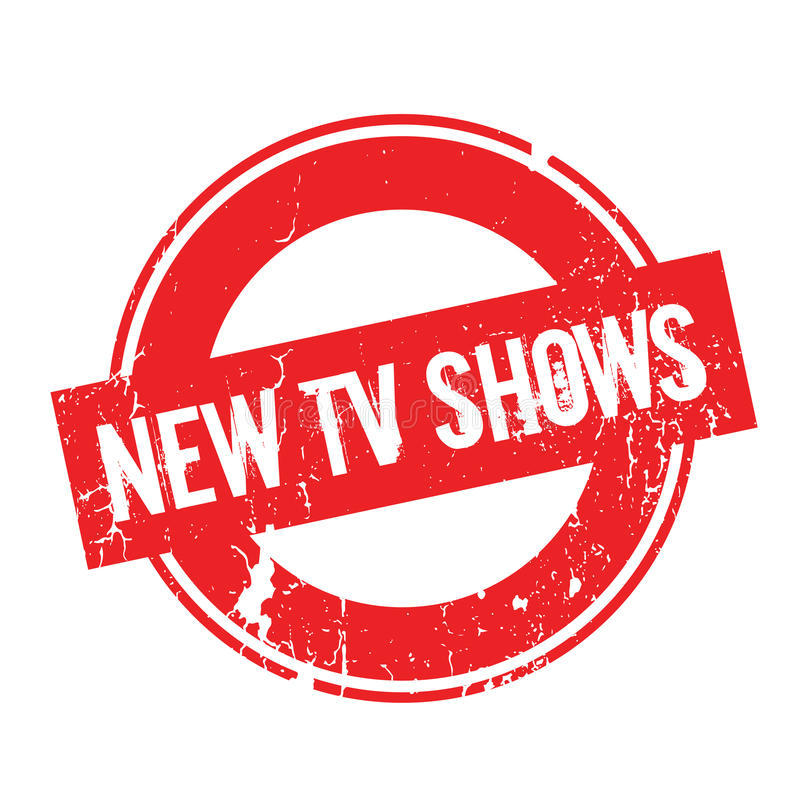 Nouveau tampon en caoutchouc d'expositions de TV illustration stock