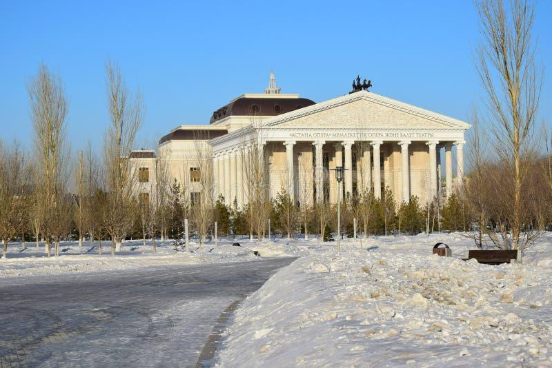 Nouveau théâtre d'opéra dans Astana_ Kazakhstan images stock