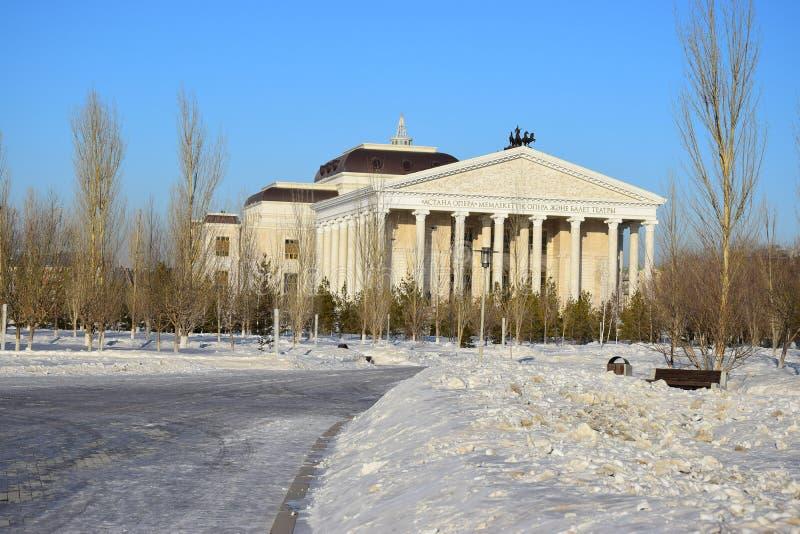 Nouveau théâtre d'opéra dans Astana_ Kazakhstan photo libre de droits