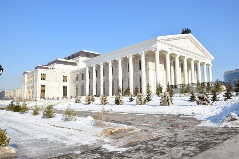 Nouveau théâtre d'opéra dans Astana_ Kazakhstan images libres de droits