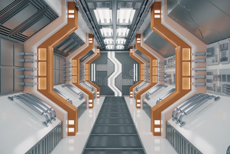 Nouveau tunnel futuriste illustration stock