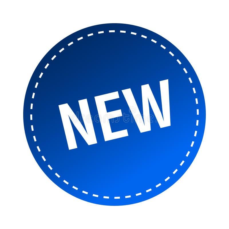 Nouveaux autocollant/timbre illustration stock