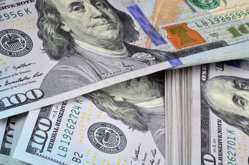 Nouveaux billets de banque du dollar image libre de droits