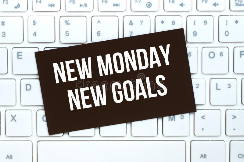 Nouveaux nouveaux buts de lundi, papier de motivation de métier image stock