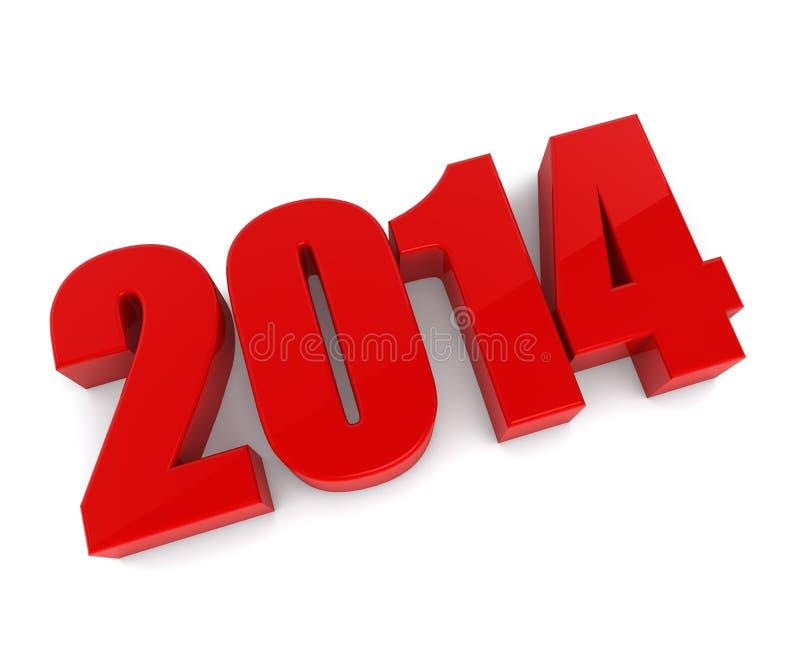 Nouveaux chiffres de rouge de 2014 ans illustration stock