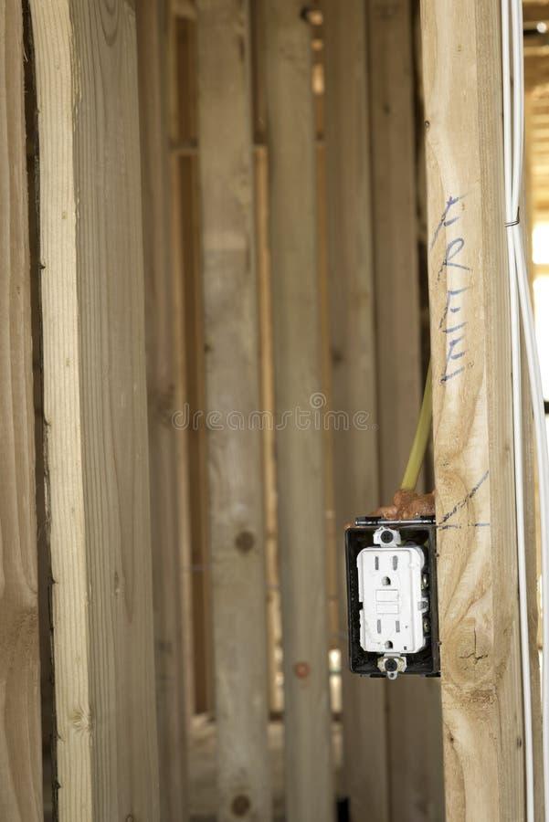 Nouveaux détails à la maison de construction photos libres de droits