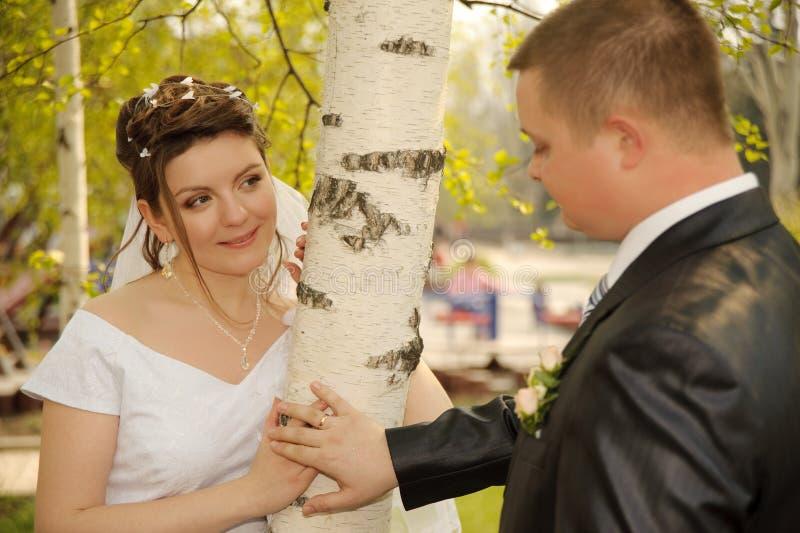 Nouveaux mariés photos libres de droits
