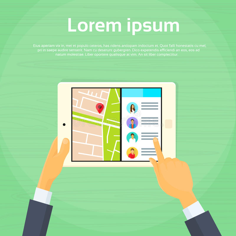 Nouvel écran divisé multitâche de tablette illustration de vecteur