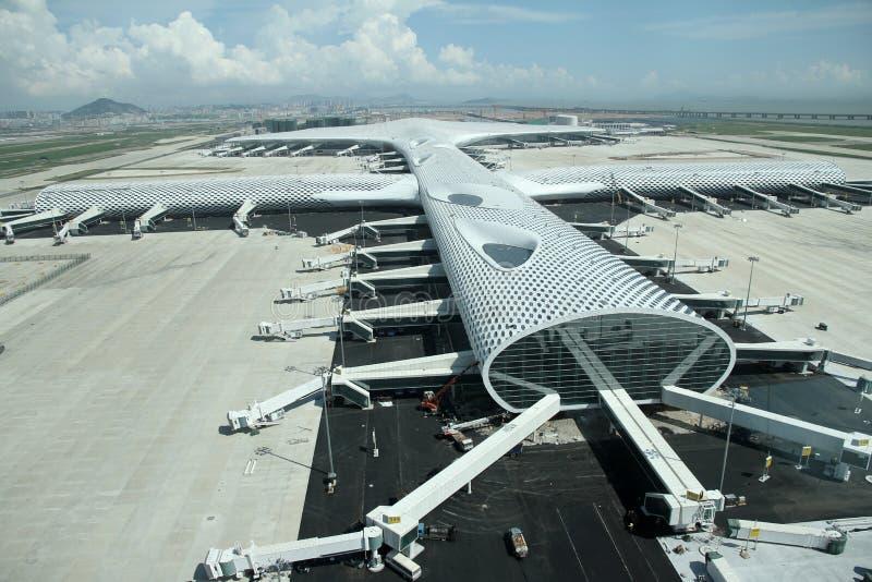 Nouvel aéroport de Shenzhen images libres de droits