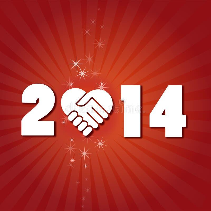 Nouvel 2014 ans heureux illustration libre de droits