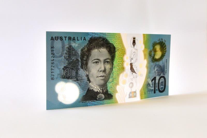 Nouvel Australien note des Dix dollars image libre de droits