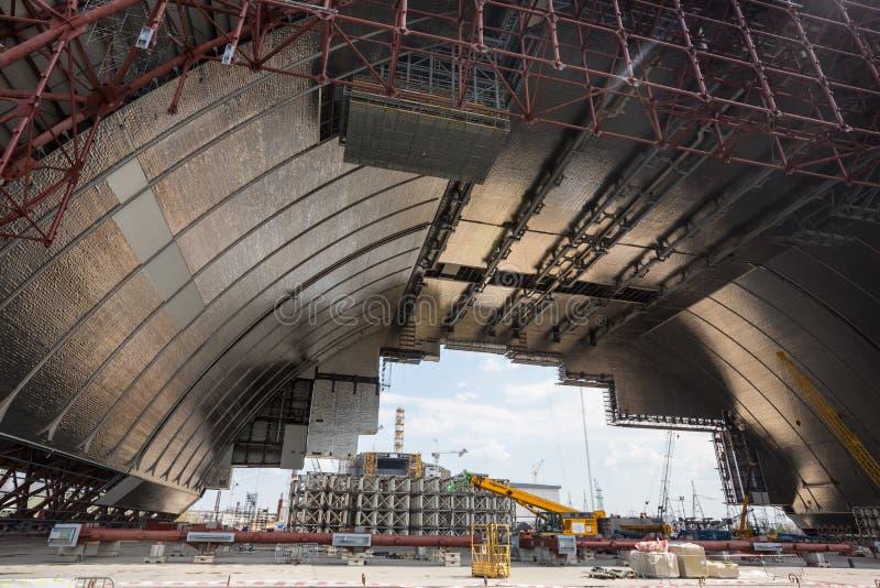 Nouvel emprisonnement sûr de Chernobyl image libre de droits