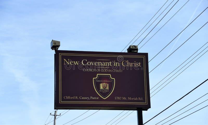 Nouvel engagement en église du Christ, Memphis, TN photos stock