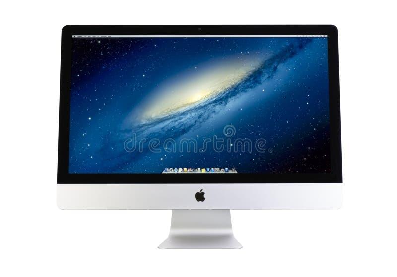 Nouvel iMac conception ultra-mince de 27 pouces photographie stock libre de droits