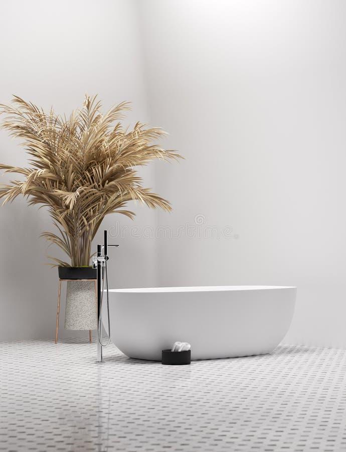Nouvel intérieur contemporain moderne de salle de bains illustration libre de droits