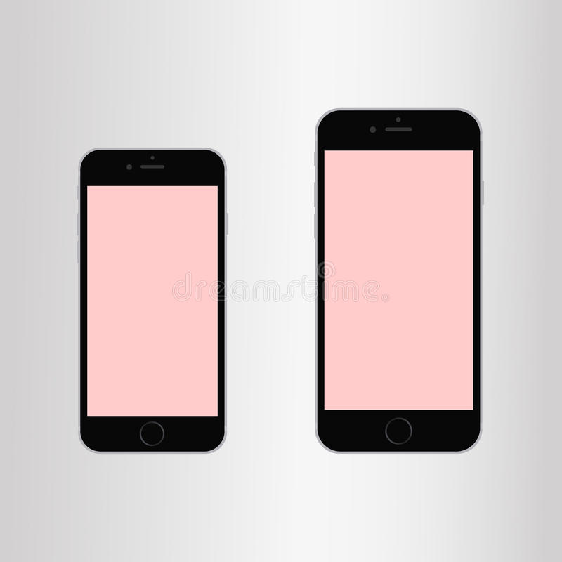 Nouvel iPhone 6 d'Apple plus et iPhone 6 illustration stock