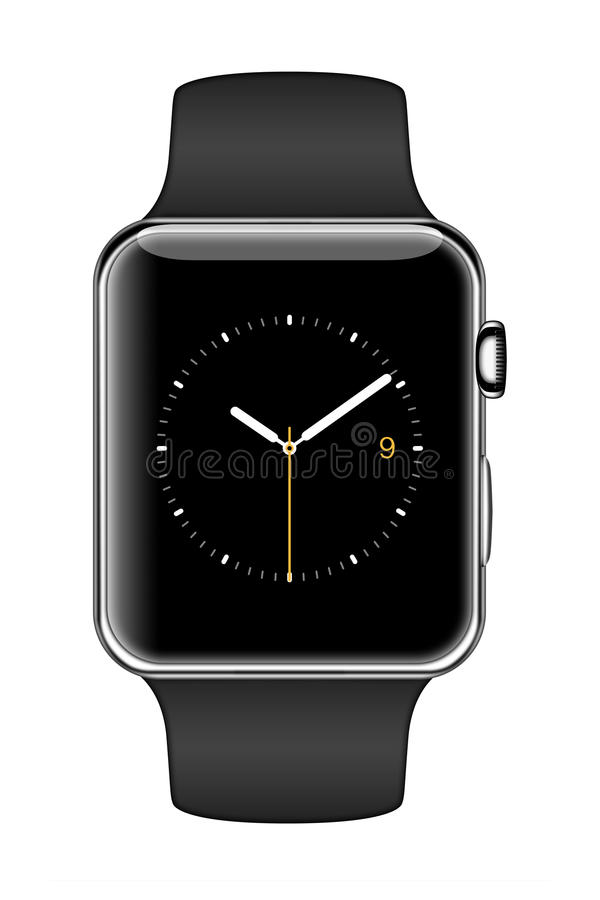 Nouvel iWatch d'Apple illustration de vecteur
