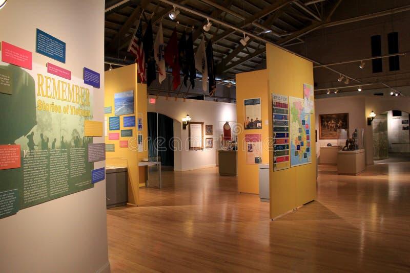 Nouvel objet exposé couvrant les mots émotifs des soldats qui ont combattu en Viet Nam War, musée militaire de l'état de New-York images libres de droits